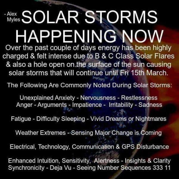 Solar Storms Happening Now